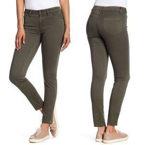 Vince Dark Olive Green Skinny Ankle Jeans Size 27